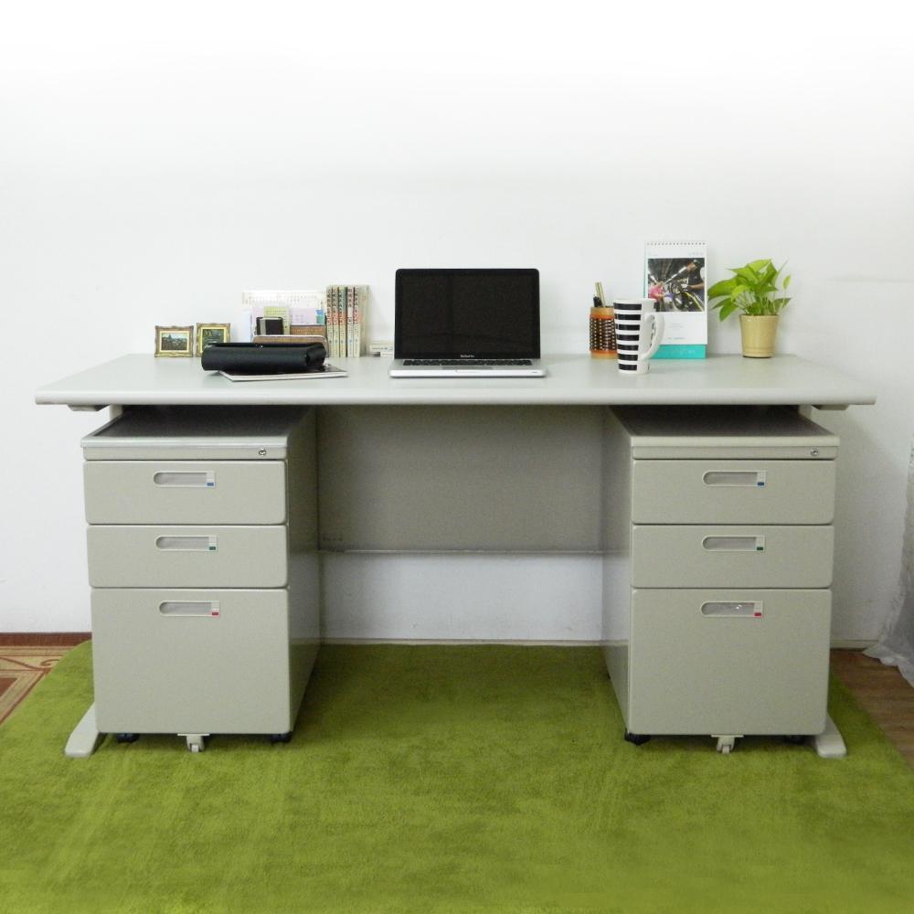 時尚屋 CD160灰色辦公桌櫃組 寬160cm-DIY