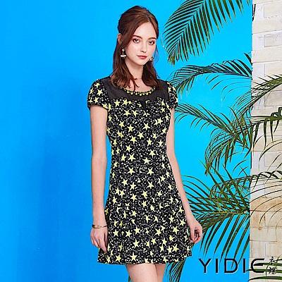 【YIDIE衣蝶】純棉繁星圖騰連身洋裝