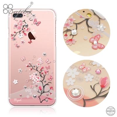 apbs iPhone8/7 Plus 5.5吋施華洛世奇彩鑽手機殼-日本櫻