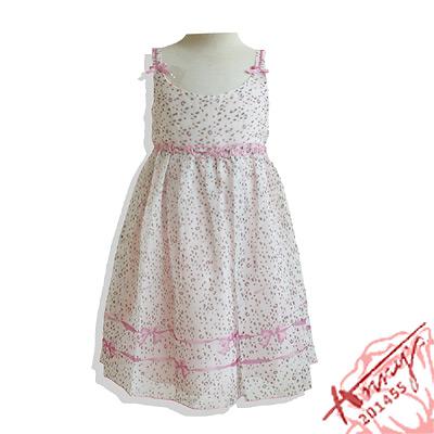 甜美豹紋雪紡紗吊帶洋裝*粉