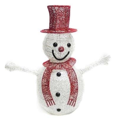 交換禮物-60cm 紅帽小雪人聖誕擺飾