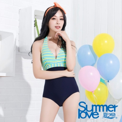 SUMMERLOVE 夏之戀 性感甜心連身三角泳衣