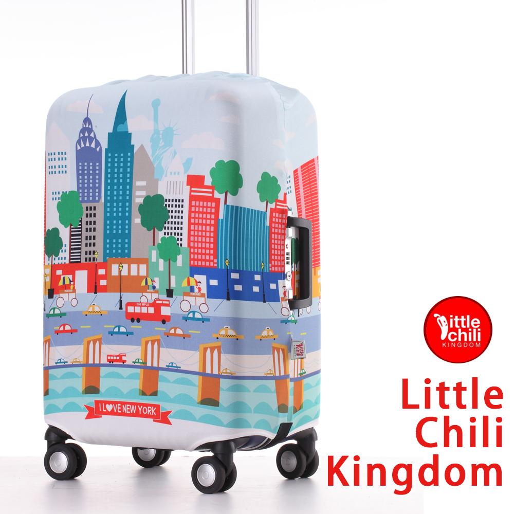 LittleChili行李箱套521-紐約彩L