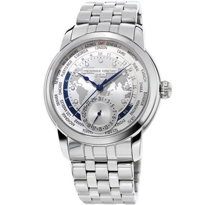 康斯登 CONSTANT Manufacture系列WORLDTIMER腕錶-銀色