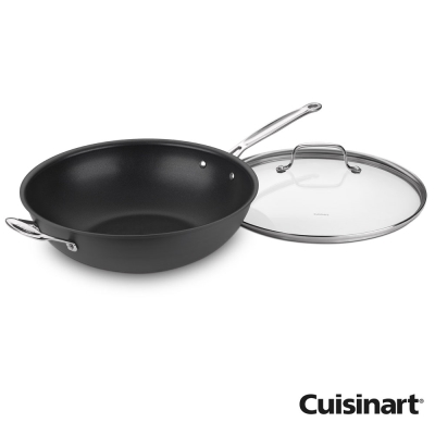 美國Cuisinart美膳雅經典主廚不沾超硬陽極系列-全方位炒鍋32cm(8H)
