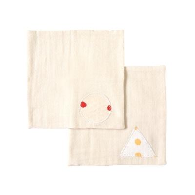 NAOMI ITO 無印水玉有機棉手帕(2入)
