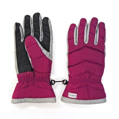 【ATUNAS 歐都納】女款防潑水防風手套(機車/登山/滑雪A1-A1749W莓紅)
