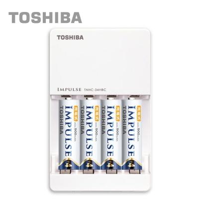 日本製TOSHIBA IMPULSE 高容量低自放電充電組 (內附4號4入+充電器)