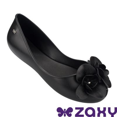 Zaxy 巴西 女 故事花語平底娃娃鞋-黑色