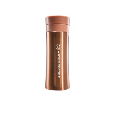 eLife易廚-SMF貝瓷真空保溫隨行杯300ml-雙層蓋(古銅金/蘋果綠)