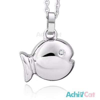 AchiCat 珠寶白鋼項鍊 悠游小魚