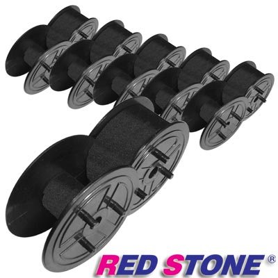 RED STONE for 黑色圓盤 收銀機/記錄器 色帶(<b>1</b>組6入)