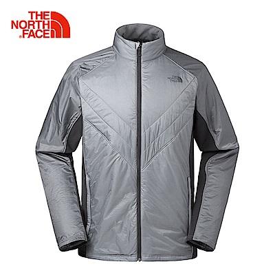 The North Face北面男款灰色運動保暖防風外套