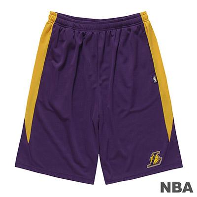 NBA-洛杉磯湖人隊LOGO印花短褲-紫 (男)