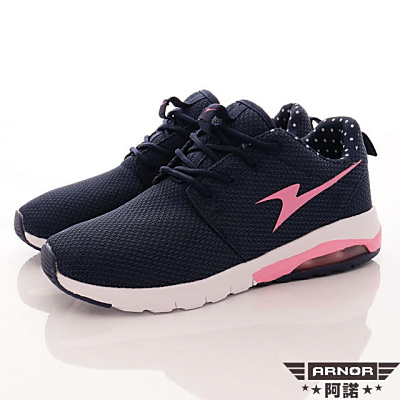 ARNOR-Q彈避震氣墊跑鞋款-SE2176藏青桃(女段)