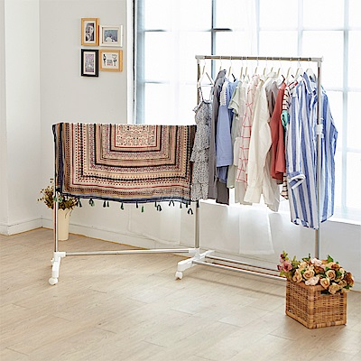 (DM)IKLOO宜酷屋 不鏽鋼可收合衣桿/曬衣架