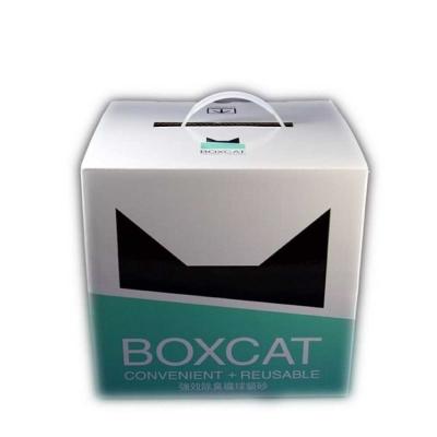 國際貓家BOXCAT 綠標-強效除臭大球砂 貓砂 13L(10kg) 兩入組