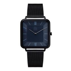 ZOOM THIN 時尚極簡晶礦方錶-黑 /35.5*35.5mm