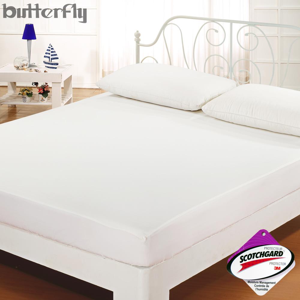 BUTTERFLY - SGS認證防水全包覆式保潔墊-白 雙人5x6.2尺 台灣製造