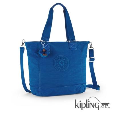 Kipling 斜背包 酷藍素面-大