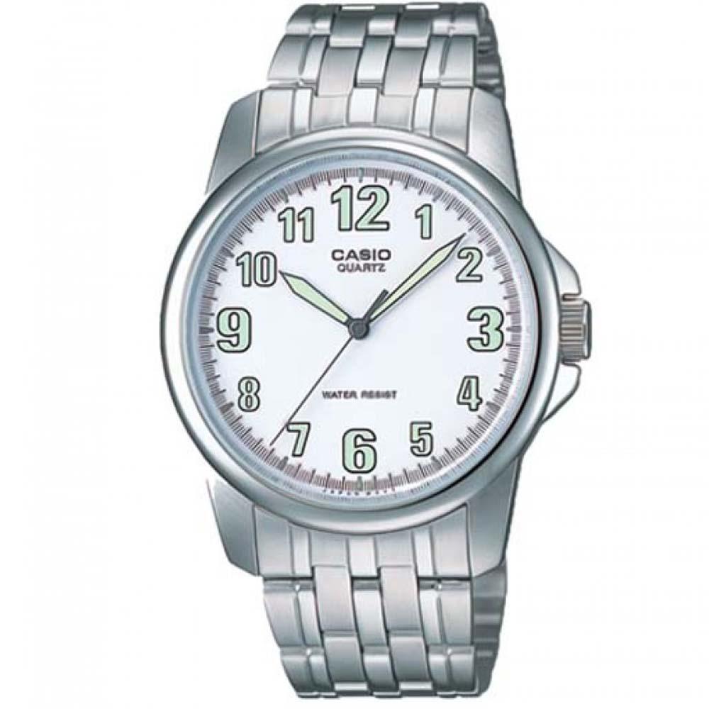 CASIO 都會城市新風範指針錶(MTP-1216A-7B)-白/39.6mm