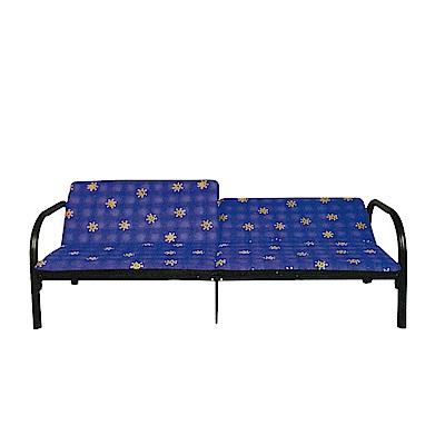 品家居 菲琳堤花布展開式沙發床(二色可選)-188x67x75cm-免組