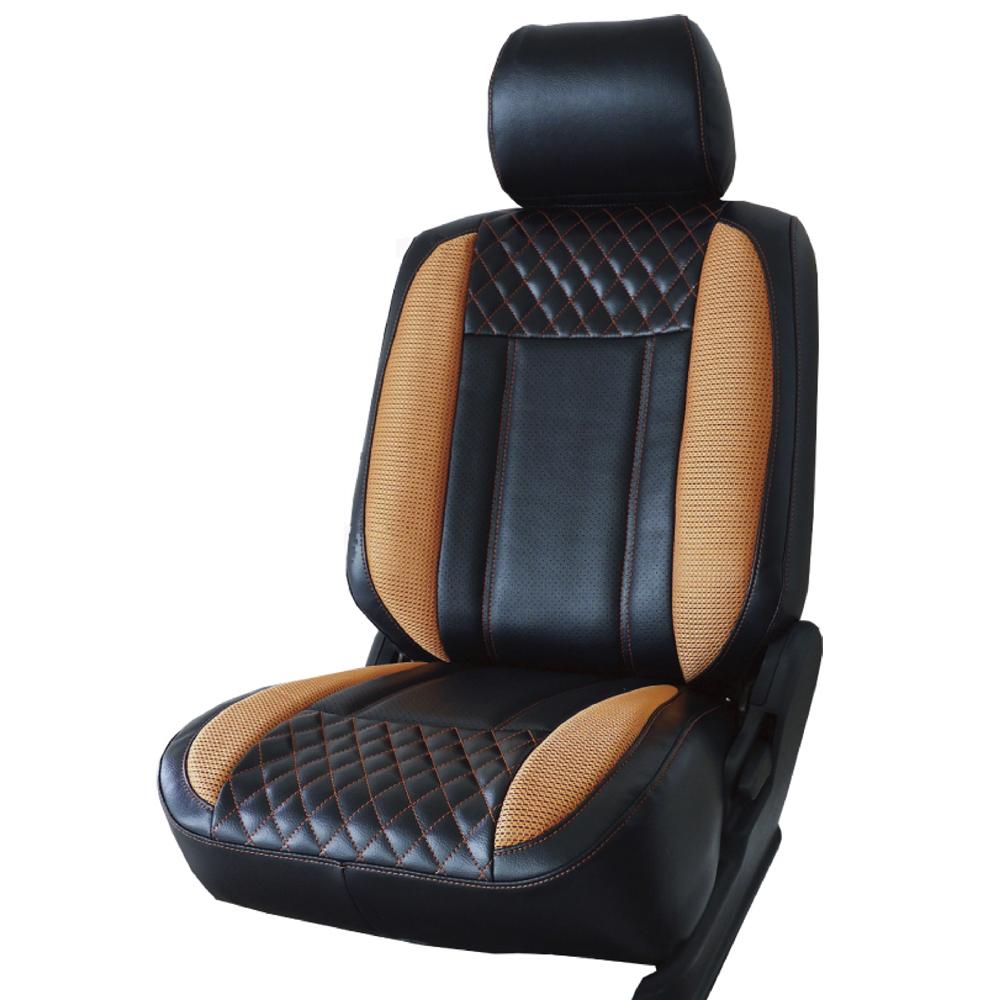葵花 量身訂做 沙發型汽車椅套 賽車橘 休旅車款 123排