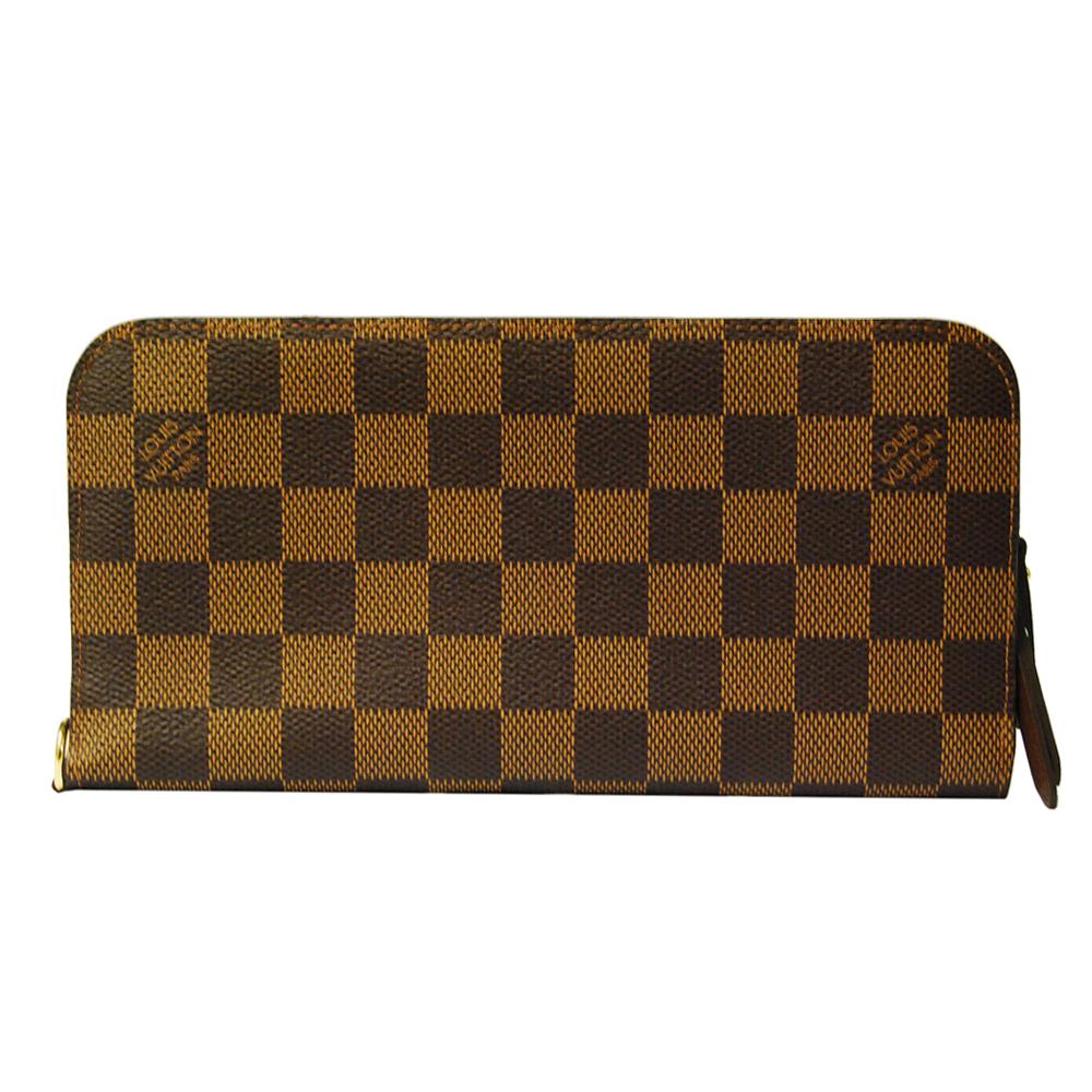 LV N63071 經典Damier Insolite咖啡棋盤格手拿長夾