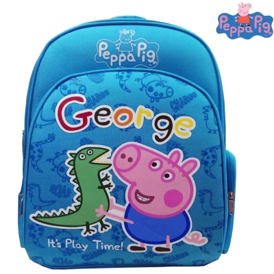 【Peppa Pig 粉紅豬】EVA護脊後背書包(天空藍_喬治_PP5715B)