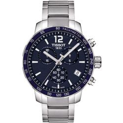 TISSOT QUICKSTER 經典計時錶(T0954171104700)-藍-42mm