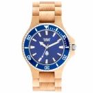 WEWOOD 義大利木頭腕錶  DATE MB BEIGE BLUE-楓木/42mm