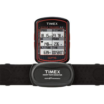TIMEX天美時 鐵人腳踏車GPS訓練器-黑x紅/46mm