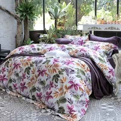 HOYA H Series絢麗葉語 加大四件式300織長纖細棉被套床包組