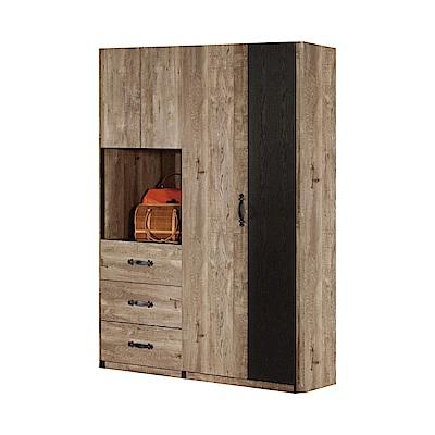 品家居 凱路易4.5尺雙色四門四抽衣櫃-136x58x197cm免組