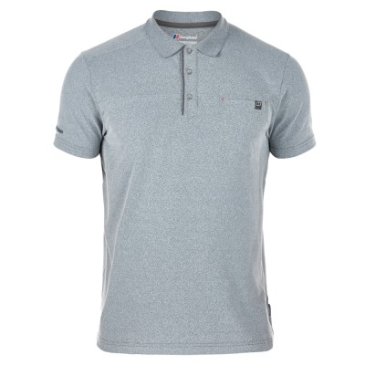 【Berghaus 貝豪斯】男款銀離子快乾抗UV 短袖POLO衫S14M03-灰