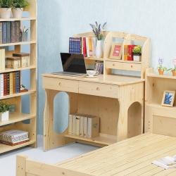 AS-漢娜松木含書架書桌-94x64x124cm