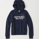 AF a&f Abercrombie & Fitch 女 帽T 藍 0187