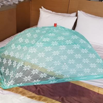 凱蕾絲帝-台灣製造-嬰兒專用針織特多龍花紗睡簾防蚊傘型帳(綠)