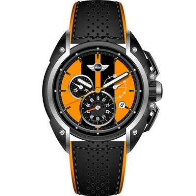MINI Swiss Watches  極速時尚腕錶-橘/45mm