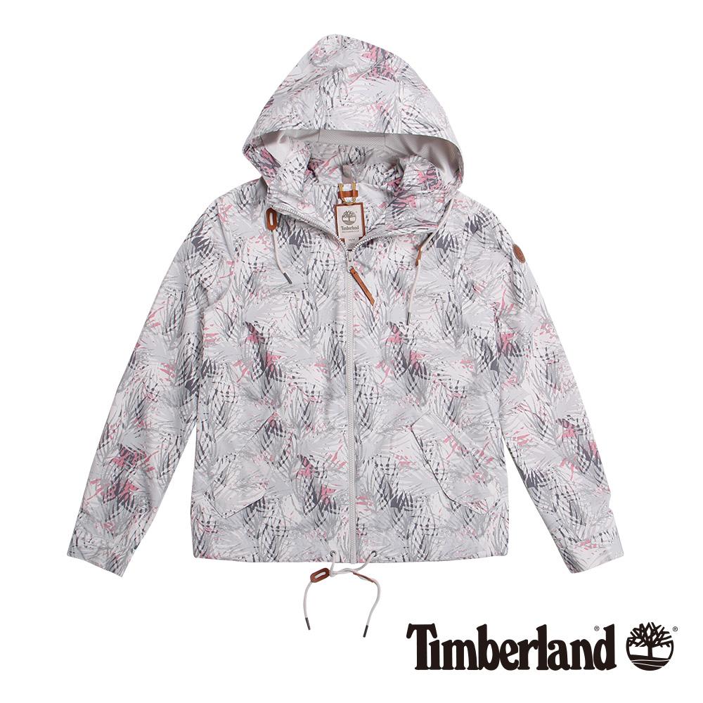 Timberland 女款白色連帽抽繩防水休閒外套