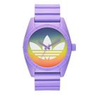 adidas 街潮繽紛三葉休閒腕錶-漸層x紫/40mm