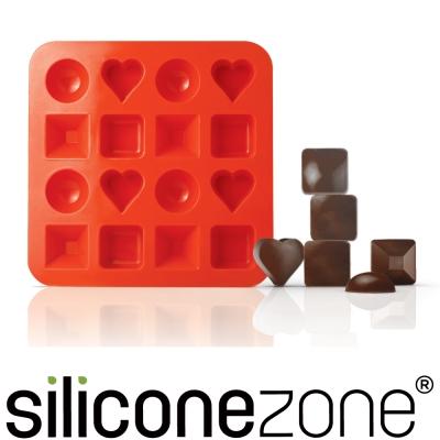 Siliconezone 施理康耐熱圓形造型巧克力模/冰模-橘色