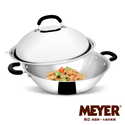 MEYER-美國美亞CCSS 日本鋼抗菌雙耳炒鍋(有蓋)36CM