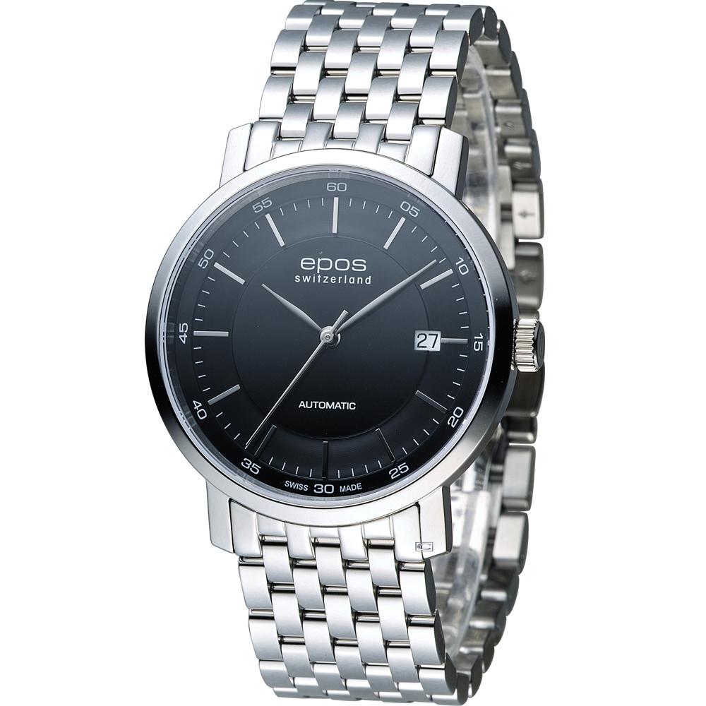 EPOS Originale 原創系列 英倫都會紳士機械錶-黑/39mm