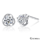 GIUMKA 925純銀耳環針式甜蜜綻放-銀色