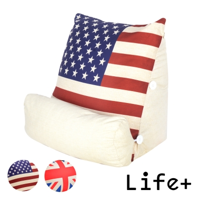 Life Plus 英倫美風立體舒壓靠枕/抱枕/腰靠枕 (美國國旗)