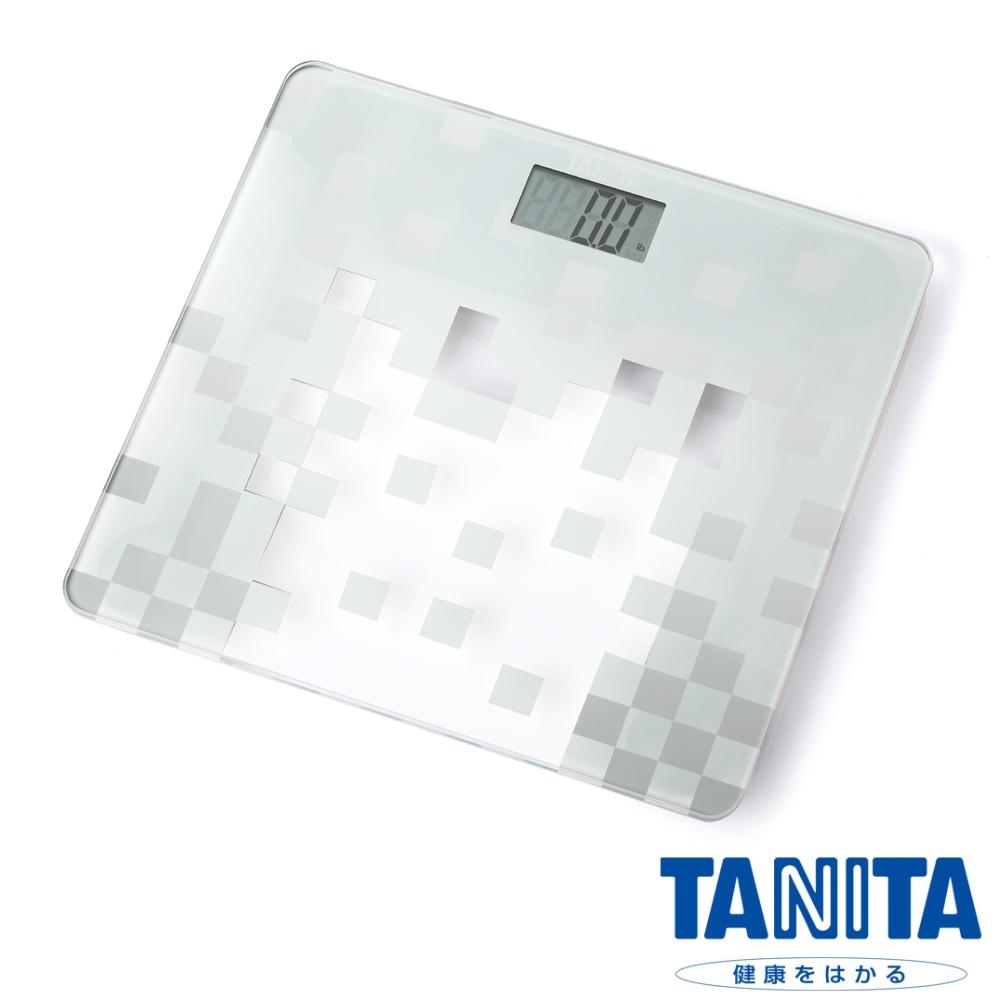 日本TANITA時尚超薄電子體重計HD-380-透明白