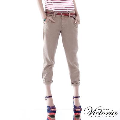 Victoria 後染天絲棉B.F.褲-女-卡其