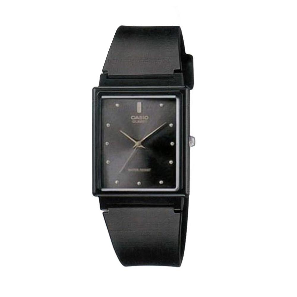 CASIO 簡單經典復古長方款指針錶-(MQ-38-1)黑面/25mm