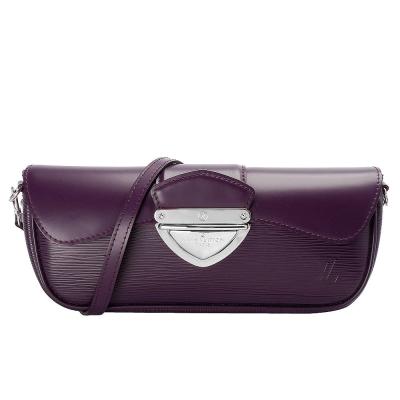 LV M5929K 經典Epi水波紋MONTAIGNE三角銀釦手提/手拿晚宴包(紫)